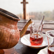 Drinking Traditional Turkish — Stock Photo