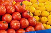 Fresh Organic Tomato and Lemons — Stock Photo