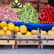 Fresh Organic Fruits and Vegetables At A Street Market — Stock Photo