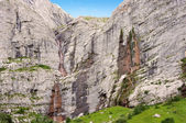 The highest waterfall in Europe. South wall of mountain Fisht near Sochi, Caucasus. — Stock Photo