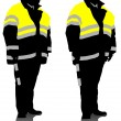 Stock Vector: Traffic officer