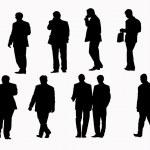 Businessmen isolation — Stock Vector #26117035
