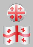 Bandera de georgia — Vector de stock