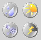 Ikony počasí — Stock vektor