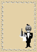 Waiter — Stock Vector
