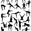 Aerobic movement — Stockvectorbeeld