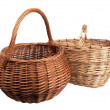 Two baskets wicker — Stock Photo #26499411