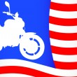 American motorcycle — Stock Vector