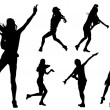 Girls at dance — Imagen vectorial