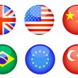 Icons whit flags — Stock Vector #35574317