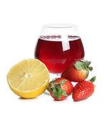 Strawberries and lemon juicy — Foto de Stock