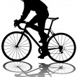 Stock Vector: Cyclists man
