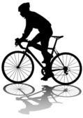 велосипедисты человек — Cтоковый вектор