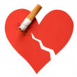 Heart and cigarette butt — Stok Fotoğraf #41251381