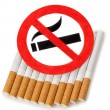 Stock Photo: Sign of nicotine
