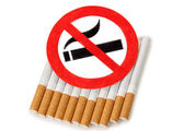 Sign of nicotine — Stock Photo