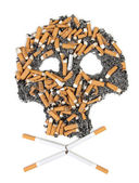 Skull of cigarette — Stock Photo