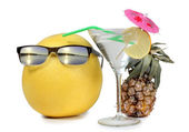 Martini with sunglasses — Stock Photo