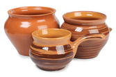 Three ceramic pot — Stockfoto