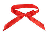 Red silk bow — Stock Photo