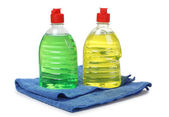 Cleaning products in bottle — Stock Photo
