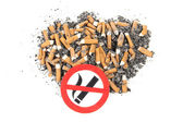 Sign of nicotine butts — Stock Photo