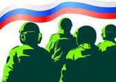 Força militar da rússia — Vetor de Stock