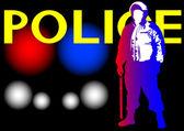 Police on light — Stock Vector
