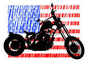 American bike — Stockvektor