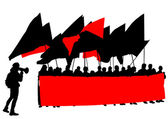 Anarchists people — Stock Vector