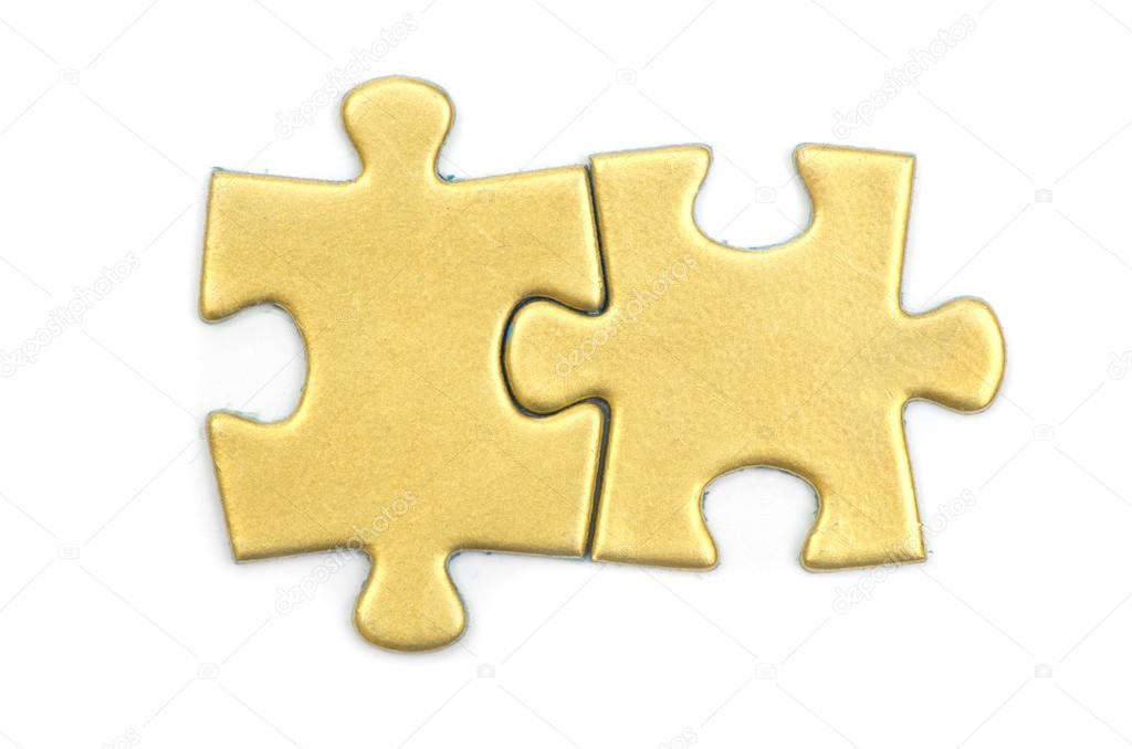 Puzzle pieces on white background — Stock Photo #13491637