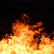 Fire flames on black background. — Stock Photo #4766422