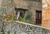 Old house porch (Viterbo, Lazio, Italy) — Stock Photo