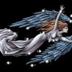 Sign on zodiac constellation The Virgin (Virgo) — Stock Photo #3461102