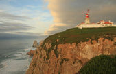 Lighthouse in the most west point of the Europe (Cabo da Roca, Portugal) — Foto de Stock