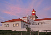Lighthouse in the most west point of the Europe (Cabo da Roca, Portugal) — Stock Photo