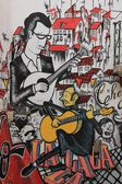 Splendid graffiti on wall of the building in Lisbon. — Foto Stock