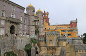 Sintra (Lisbon, Portugal).  Panorama of the castle. — Stockfoto