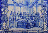 Azulejo (ceramic tile) in Porto — 图库照片