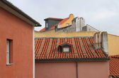 Tile roof in Lisbon (Portugal) — Stock Photo