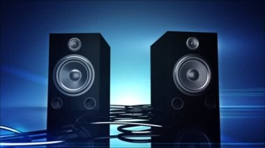 Thumping Bass Speakers. — Stock Video