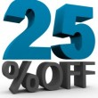 Twenty five Percent Off — Stock Video