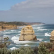 The 12 Apostles. Off the Great Ocean Road, near Port Campbell. Iconic landscape of Australia. — Stock Video #28930397