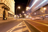 City light trails — Stock Photo