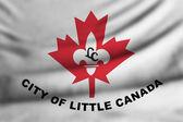 Bandera de canadá poco — Foto de Stock