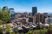 Santiago view from Santa Lucia hill. — Stock Photo