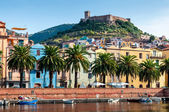 River, old fort on the Bosa, Sardinia — Stock Photo