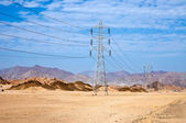 High voltage power electricity pylon — Stock Photo