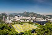 Heliport, Botafogo bay, Rio de Janeiro, Brazil — Stock Photo