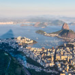 Sugarloaf, Botafogo Beach and Guanabara bay at sunset — Foto de Stock
